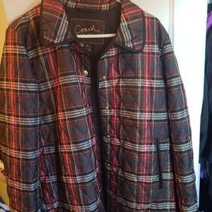 Coach water resistant jacket